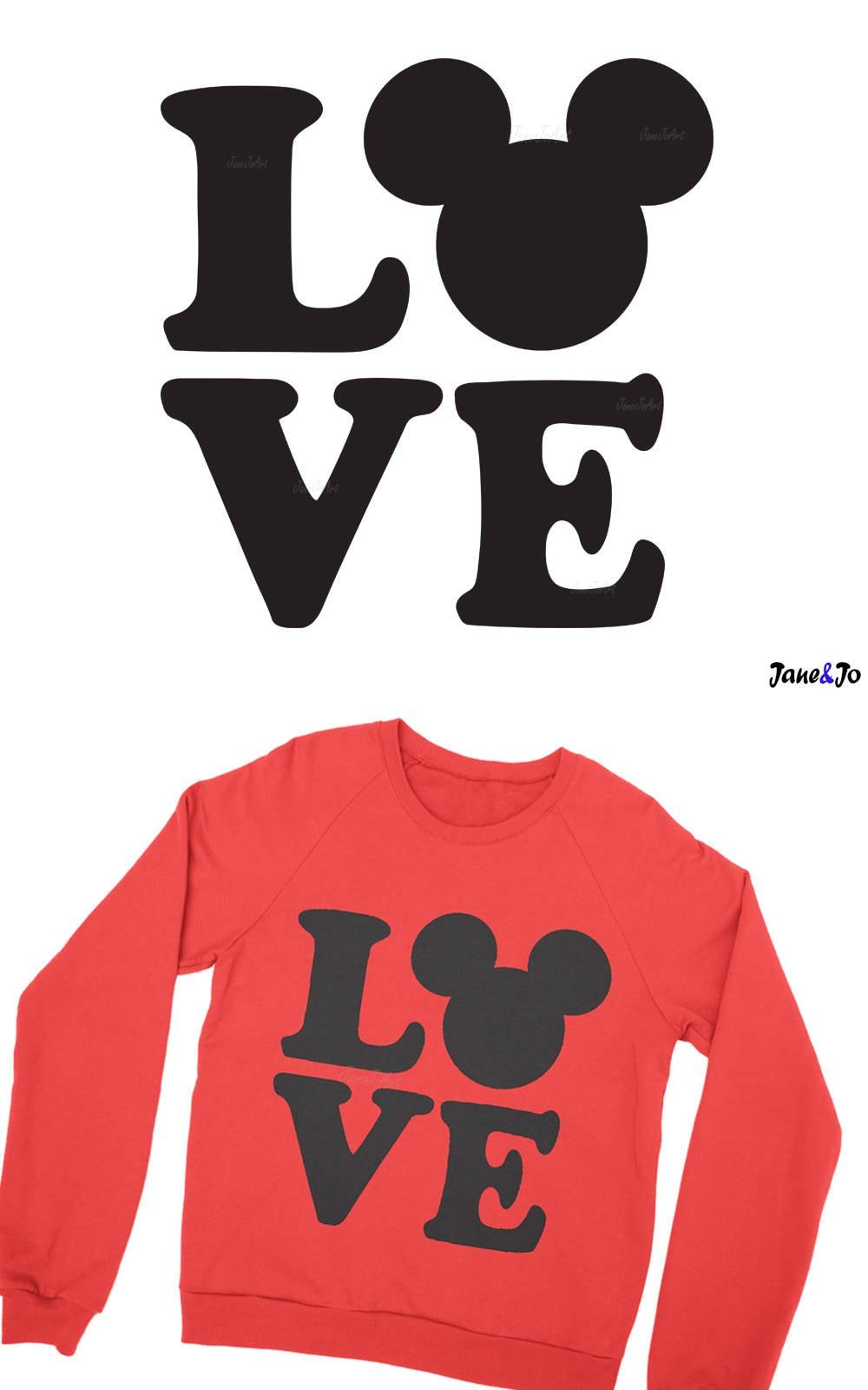 Download Love mickey svg Love Wording Svg valentine's day svg | Etsy