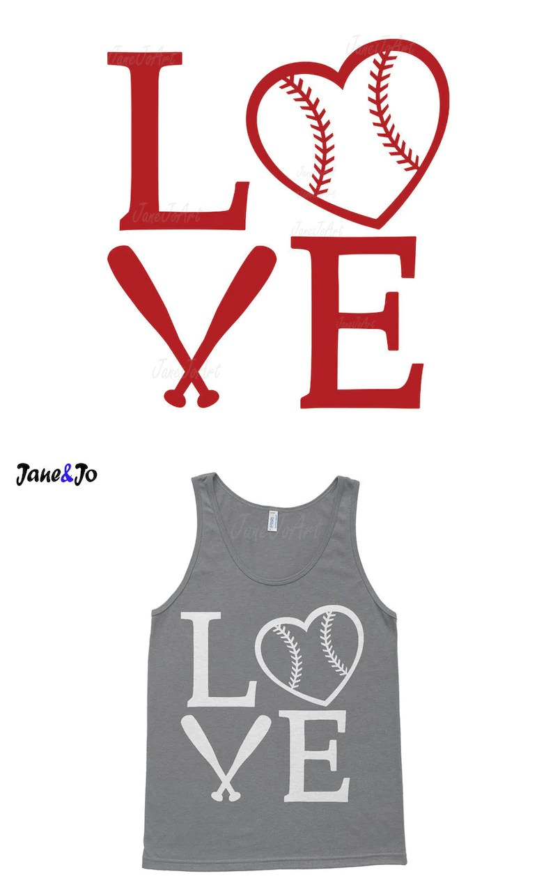 Download Love Baseball Svg Baseball Heart Svg Files Mom svg ...