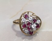 Ruby And Diamond Ring, Vintage Ruby And Diamond Ring,...read more