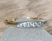 Vintage Diamond Wedding Band, Estate Stackable Diamond...read more
