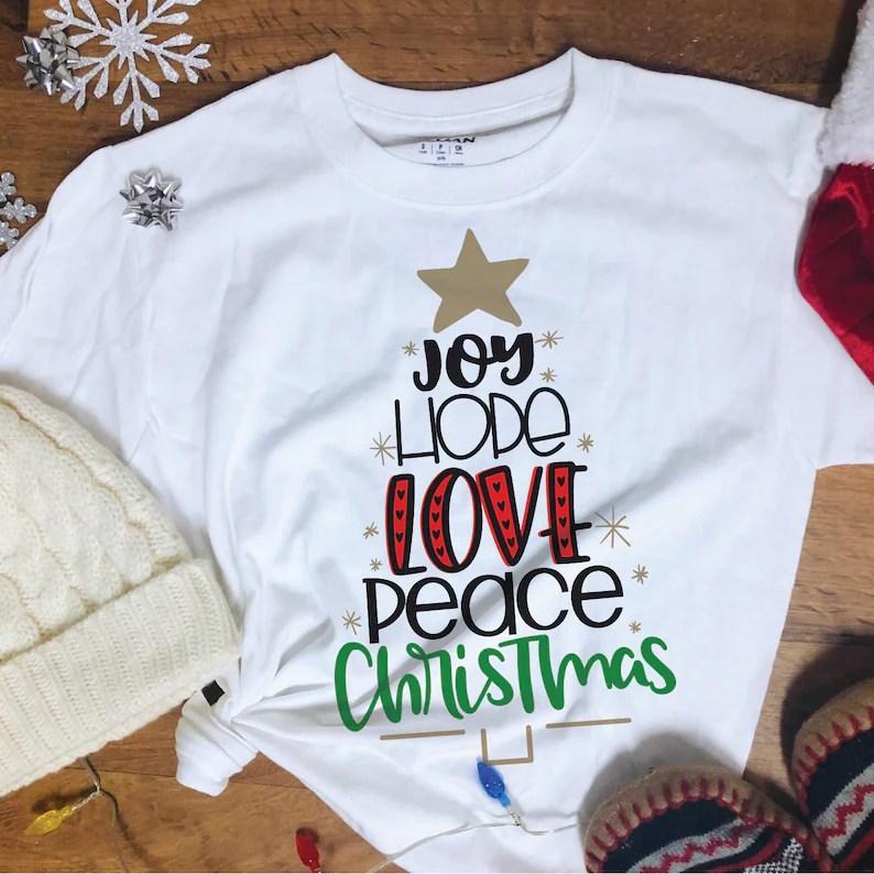 Download Joy Hope Love Peace Christmas SVG | Etsy
