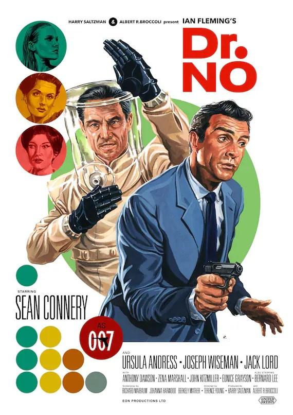 james bond 007 dr no 1962 movie poster print a3
