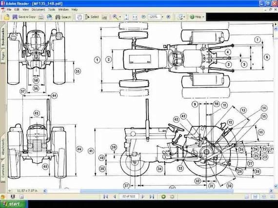 Massey Ferguson 135 Tractor Parts Manual