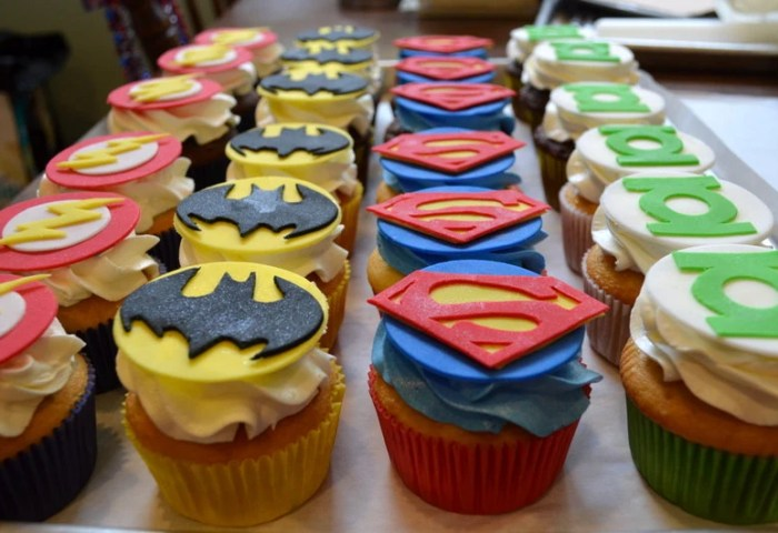 Superhero Fondant Cupcake Toppers Etsy