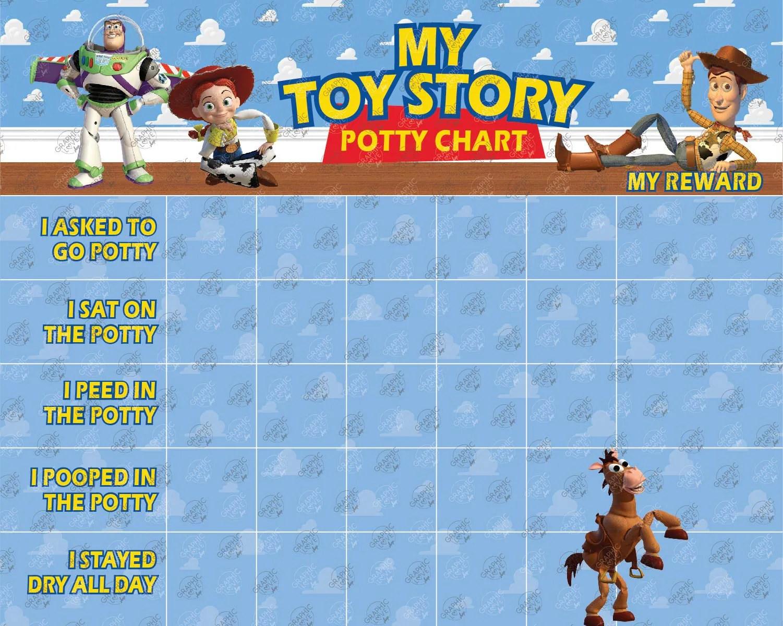 Digital Toy Story Woody Buzz Jessie Potty Chart Free