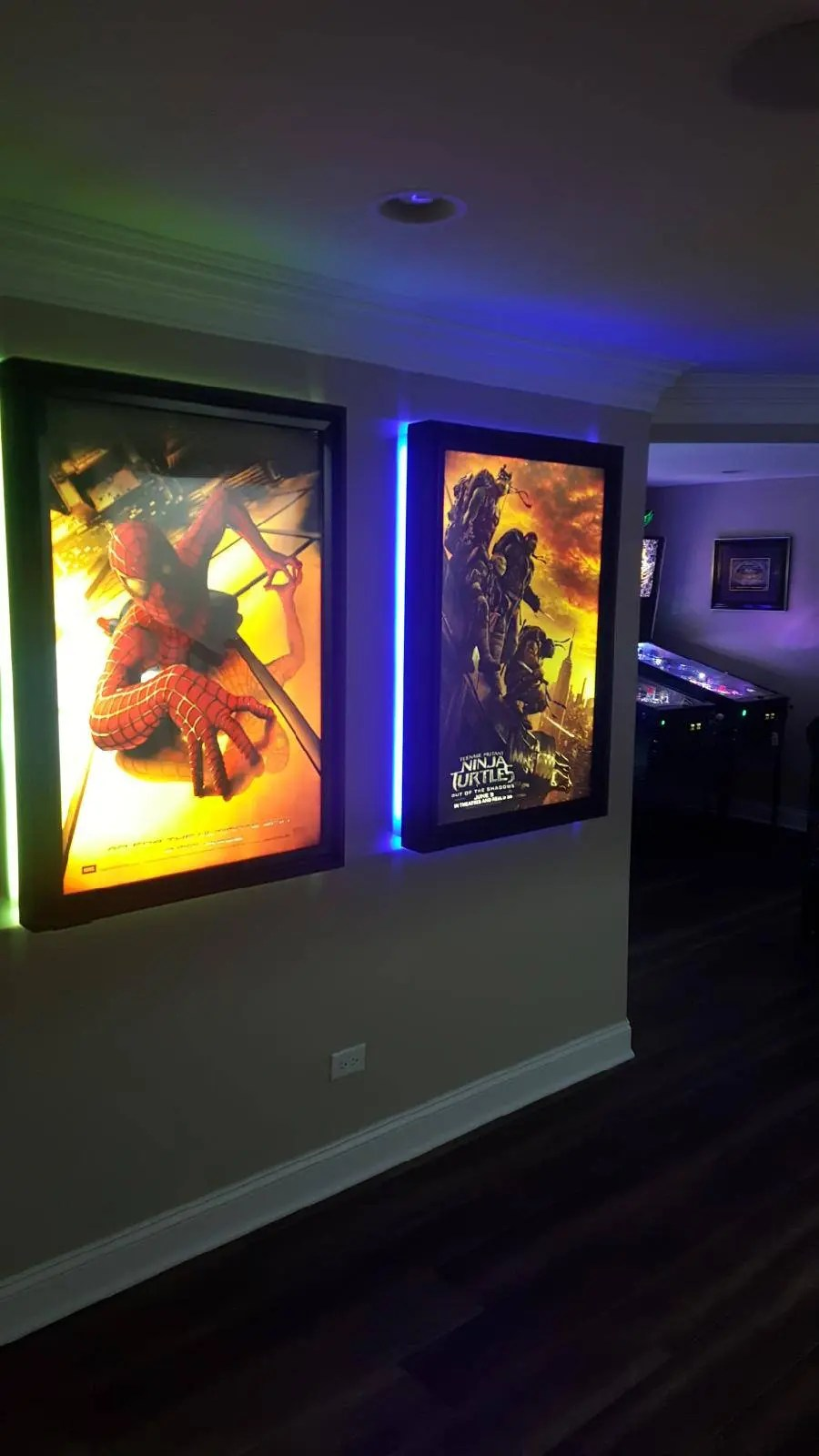 colored halo movie poster led light box display frame cinema light up home theater sign
