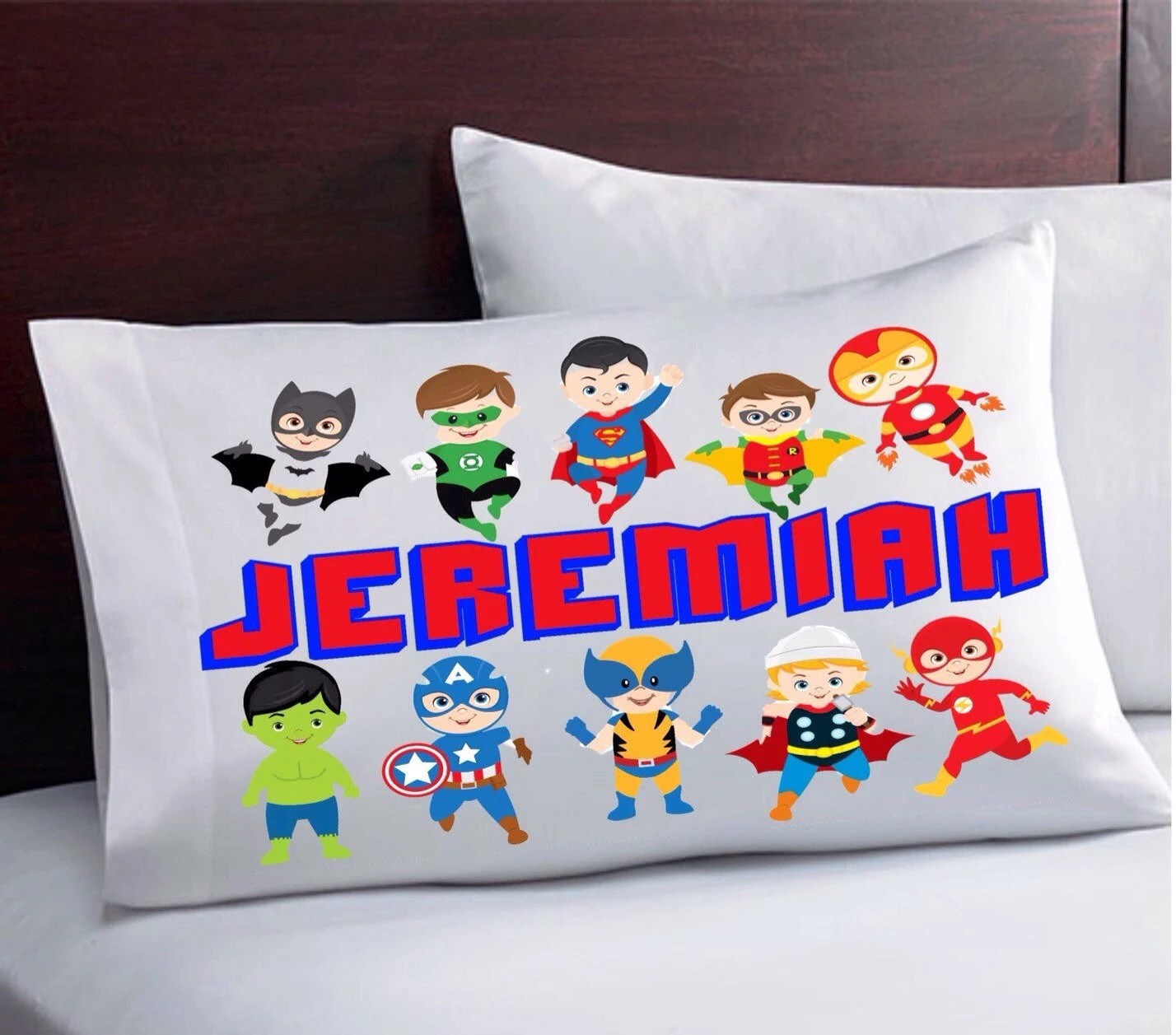 Personalized Kids Pillowcase Design Your Own Superhero