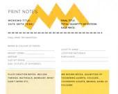 Printmaking Notes Template - Digital
