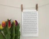 Twisted Single Crochet Down Screenprint