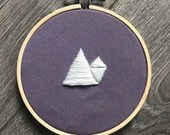 Organic Shapes Embroidery: Mountain