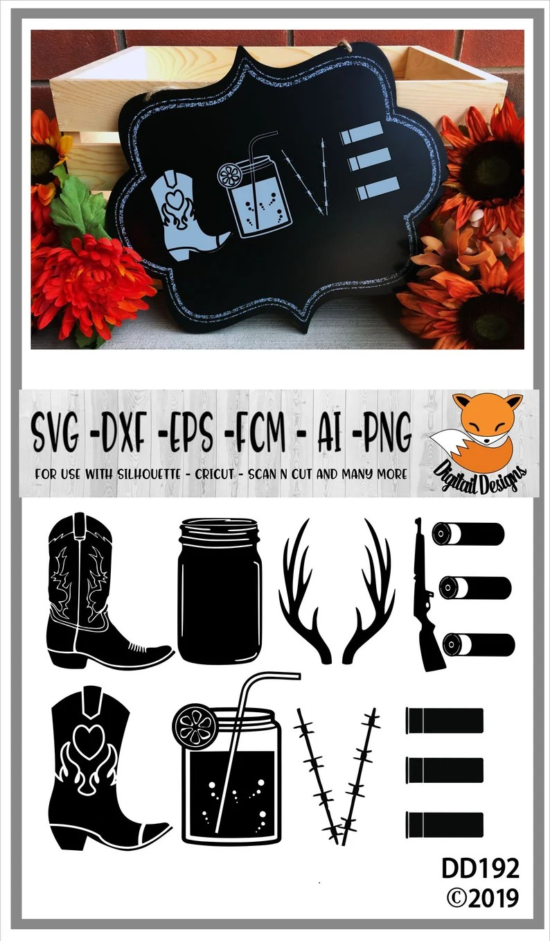 Download Country Love SVG png dxf eps fcm ai Cut File | Etsy