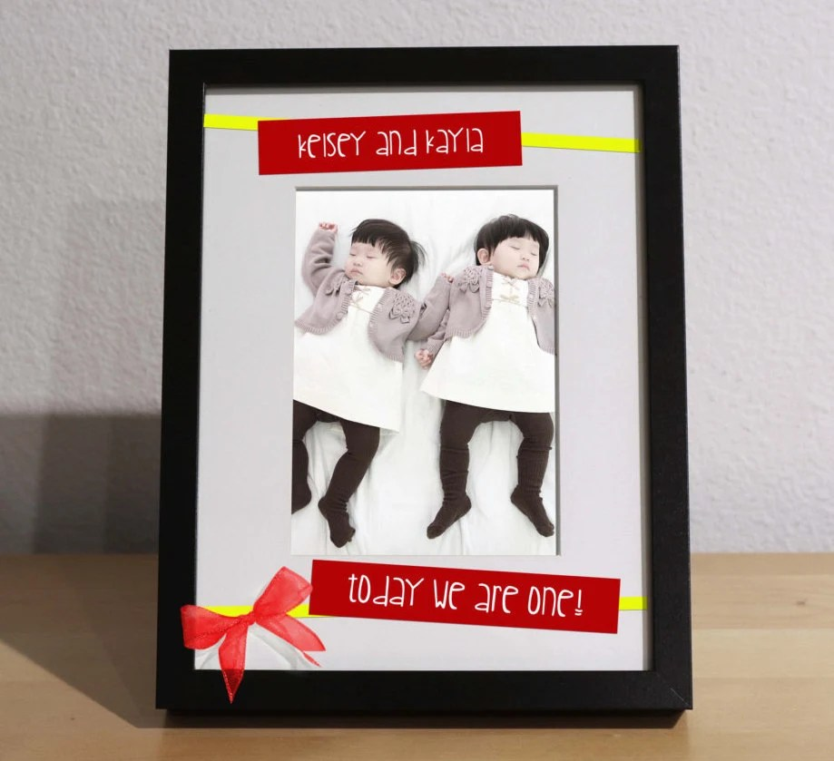 Visual Arts Personalized Gift First Birthday Gift Customized Frame Twin Girls Birthday Birthday Present For Twins Twin Boys Twins Birthday Gift Craft Supplies Tools