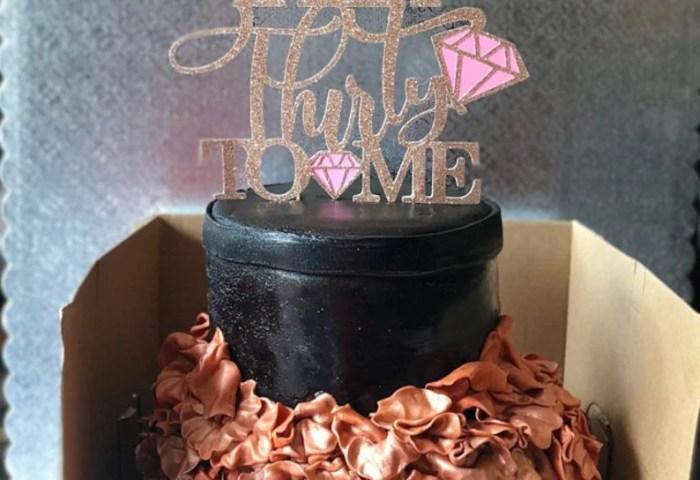30th Birthday Cake Topper 30th Birthday For Her 30th Etsy