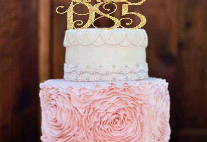 Birthday Cake Topper 30th Birthday For Her Birthday Etsy