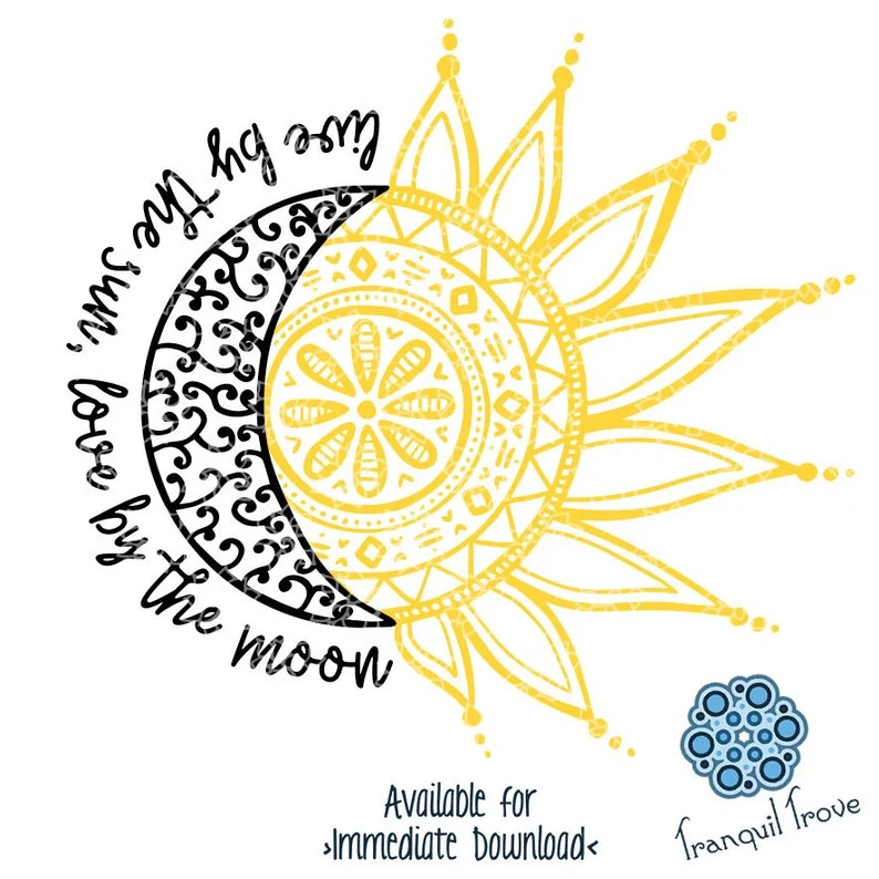 Download SVG & DXF design Live by the Sun Love by the Moon   Etsy