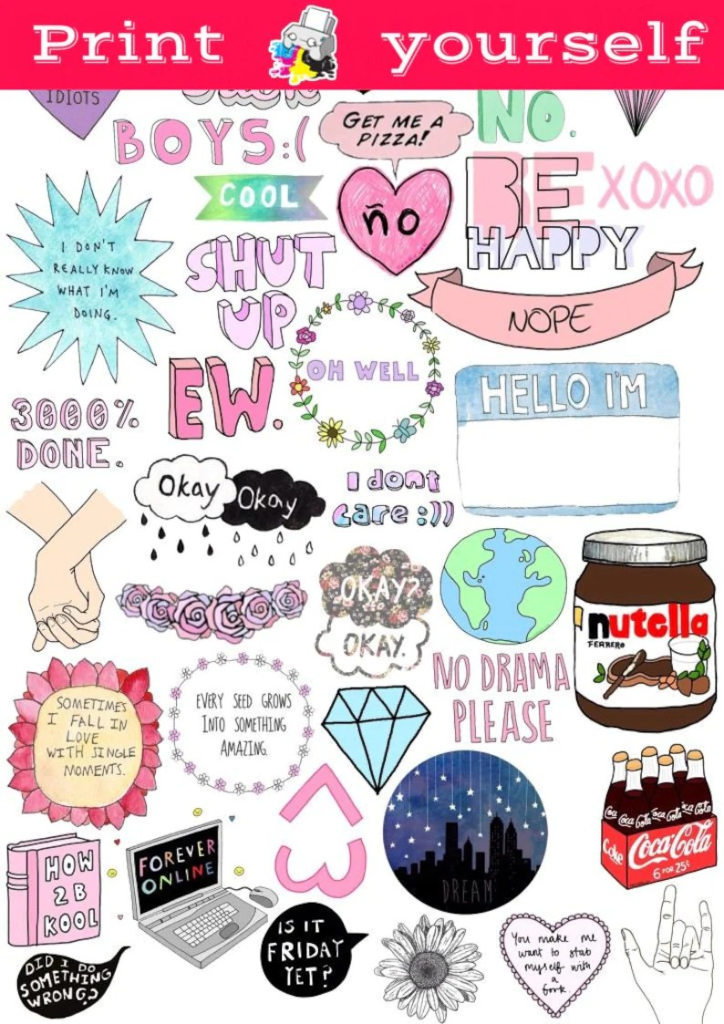 photo regarding Printable Vsco Stickers referred to as Tumblr Coca Cola Sticker - Upon Log Wall