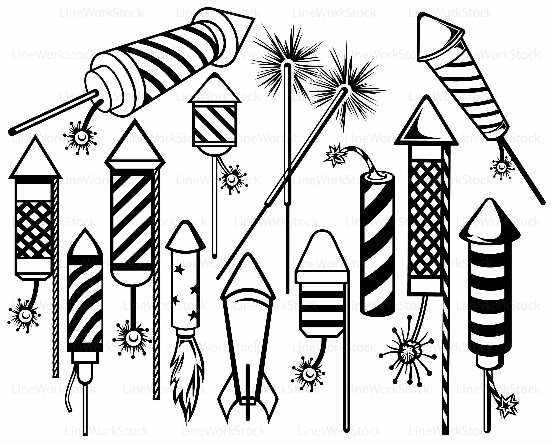 Fireworks Svg Rocket Clipart Fireworks
