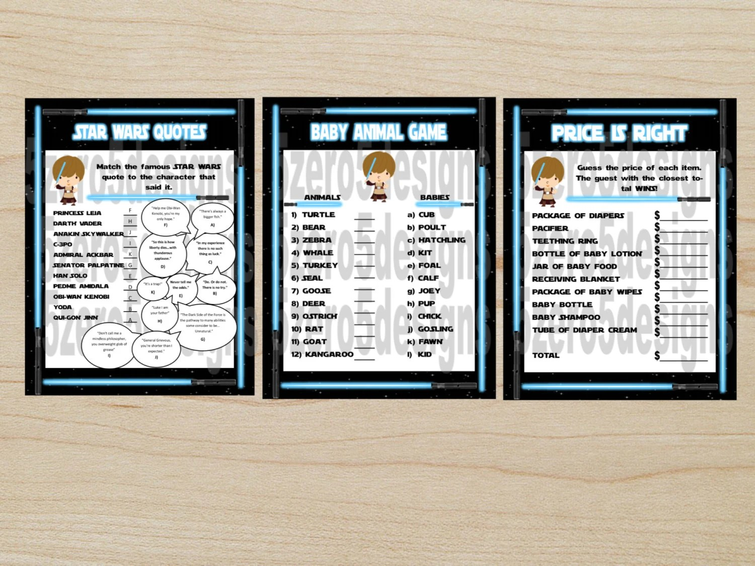 Star Wars Baby Shower Games Baby Shower Games Printable
