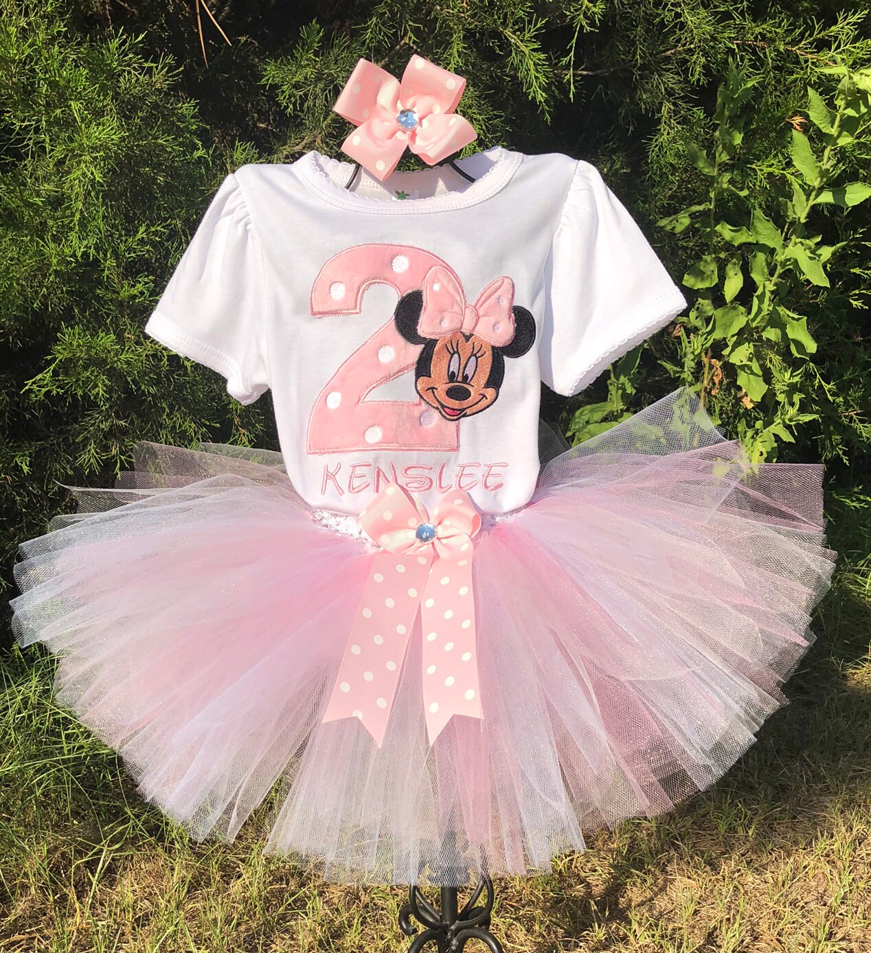 Minnie Mouse Pink 2nd Birthday Outfit Bodysuit Shirt Tutu Free Etsy