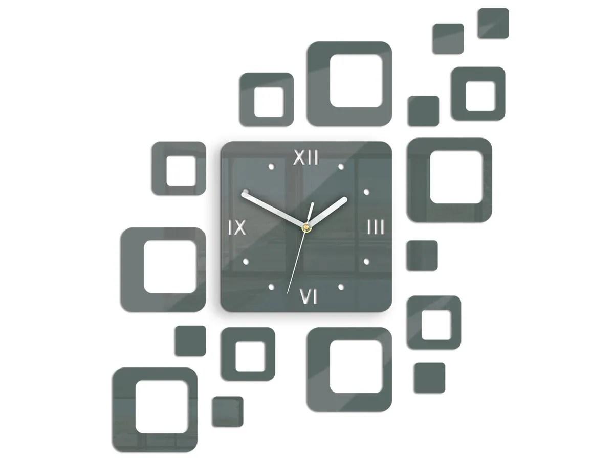 Wall Clock Rome Gray Modern Clock Modern Wall Clock Unique Wall Clocks Gift Large Wall Clock