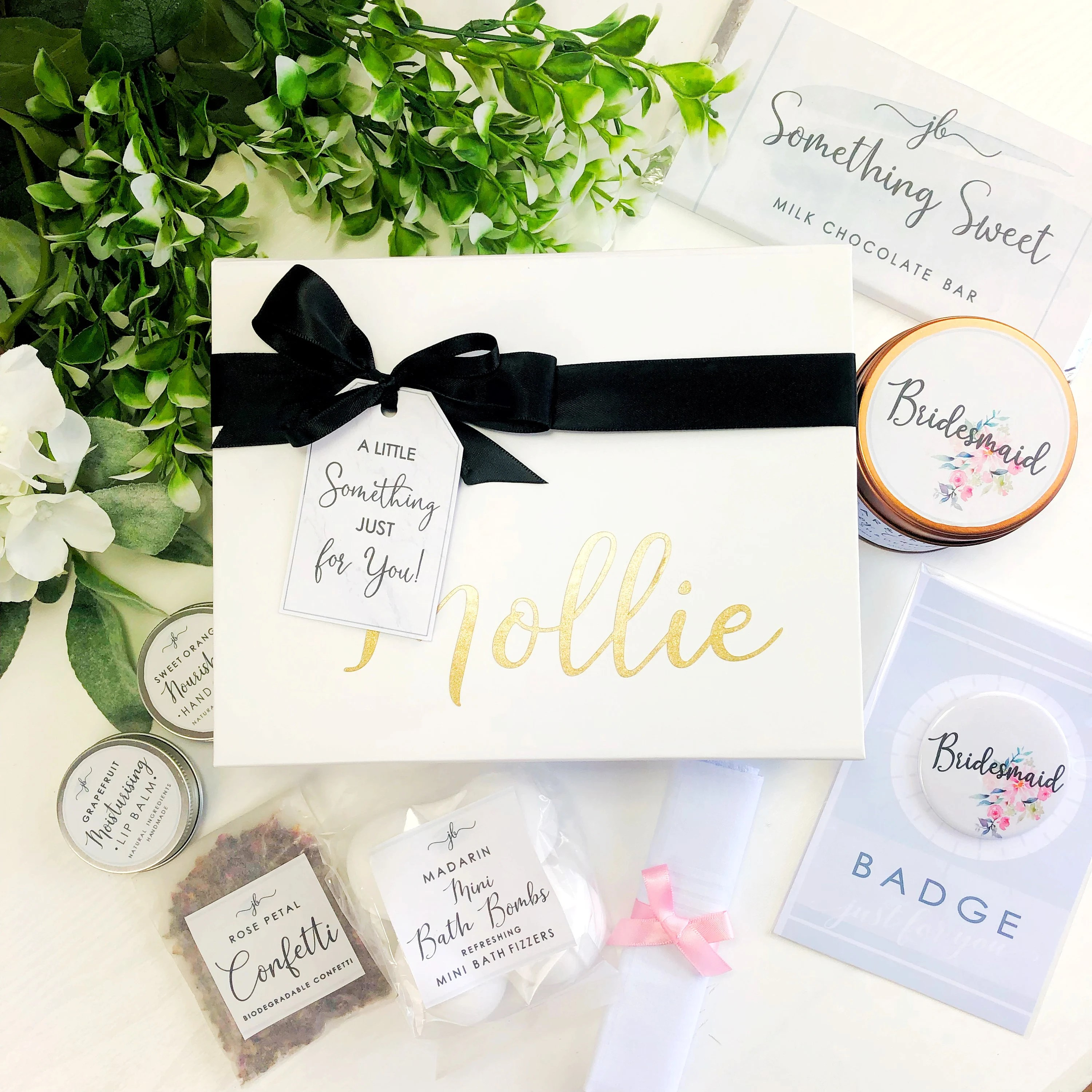 Pre filled will you be my Bridesmaid box. Personalised image 1