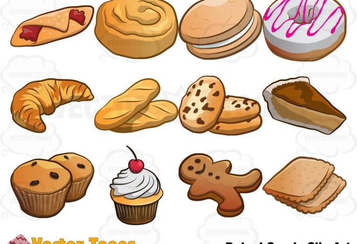 Baked Goods Clip Art Digital Clipart Digital Graphics Etsy