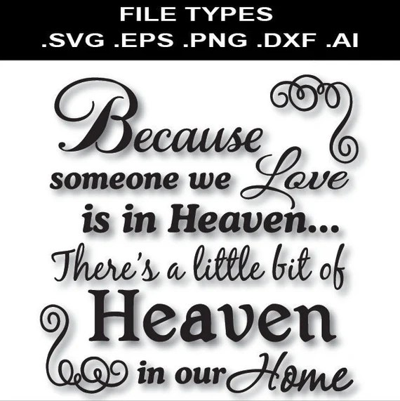 Because someone we love is in Heaven Svg Glass Block Svg ...