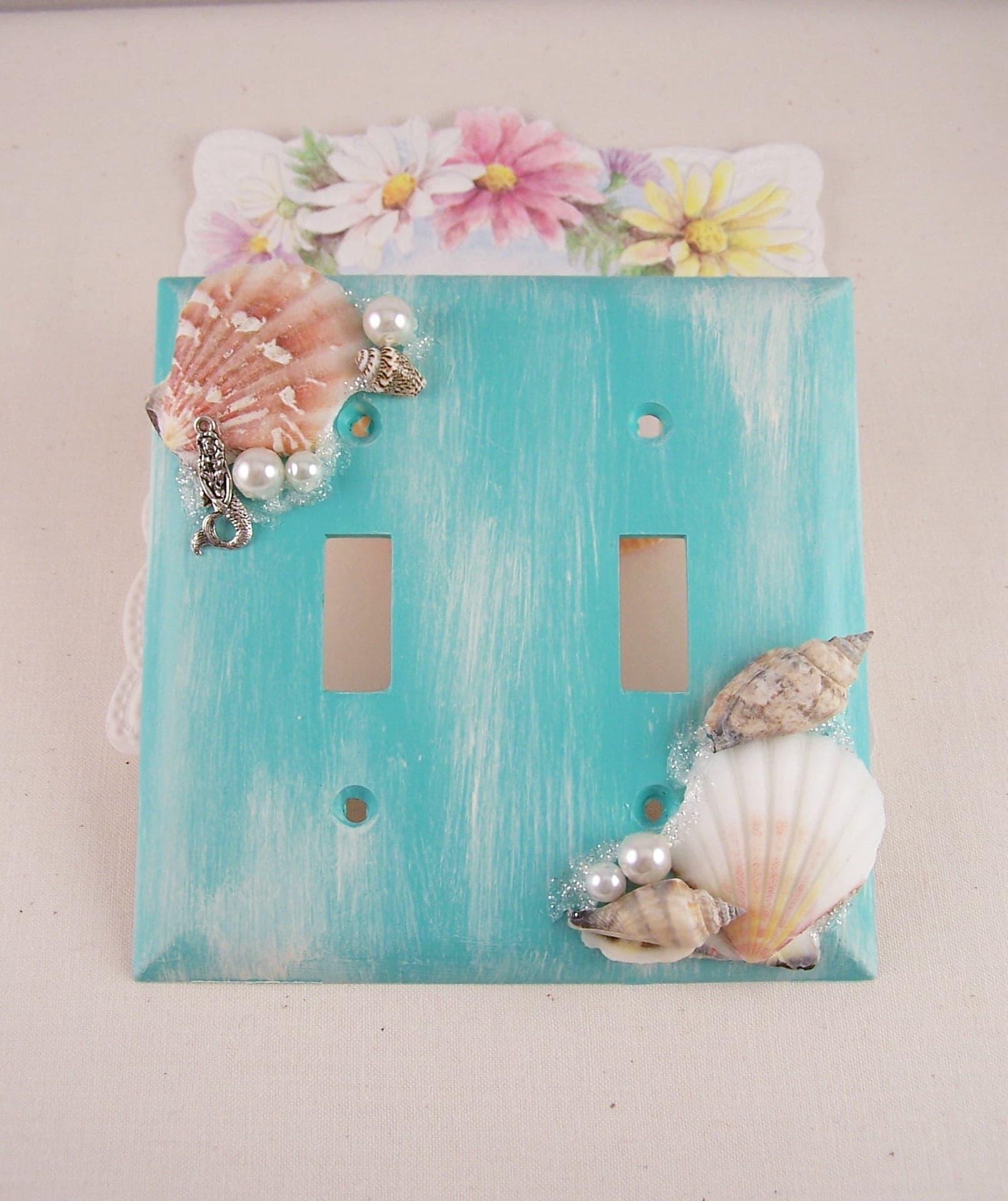 Mermaid Switch Plate Seashell Mermaid Switchplate Cover