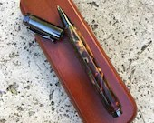 Magnetic Multi Coloured Resin and Wood Burl and Gun Metal Zen Rollerball Pen