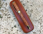 Magnetic Burl and Gold Supreme Vertex Rollerball Pen, handcrafted