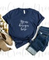 Bella Canvas Fall Navy V Neck Shirt Mockup 3005 Feminine Etsy