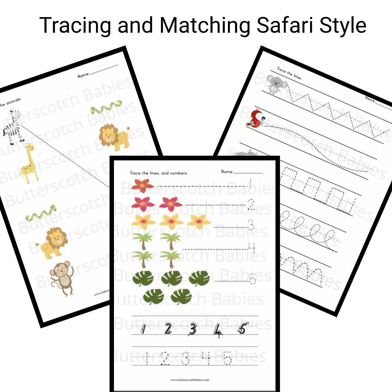 School Printable Writing Readiness Line Tracing Number