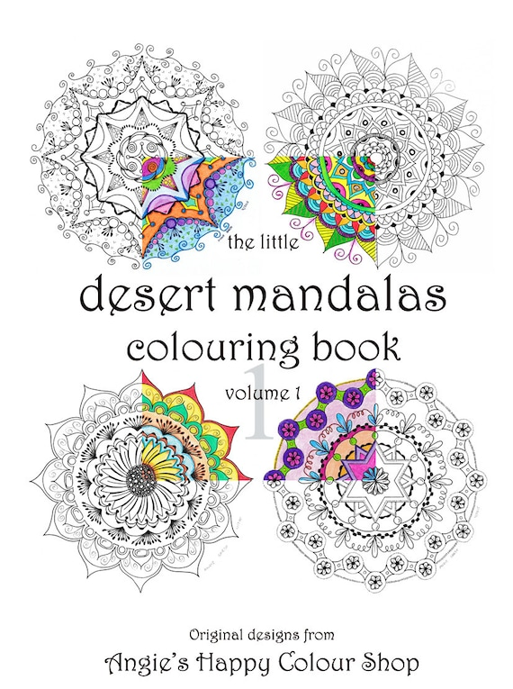 Coloring Printable For Adults Printable Art Therapy Mandalas Etsy