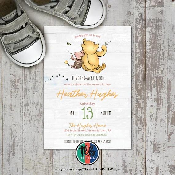 classic winnie the pooh invite winnie