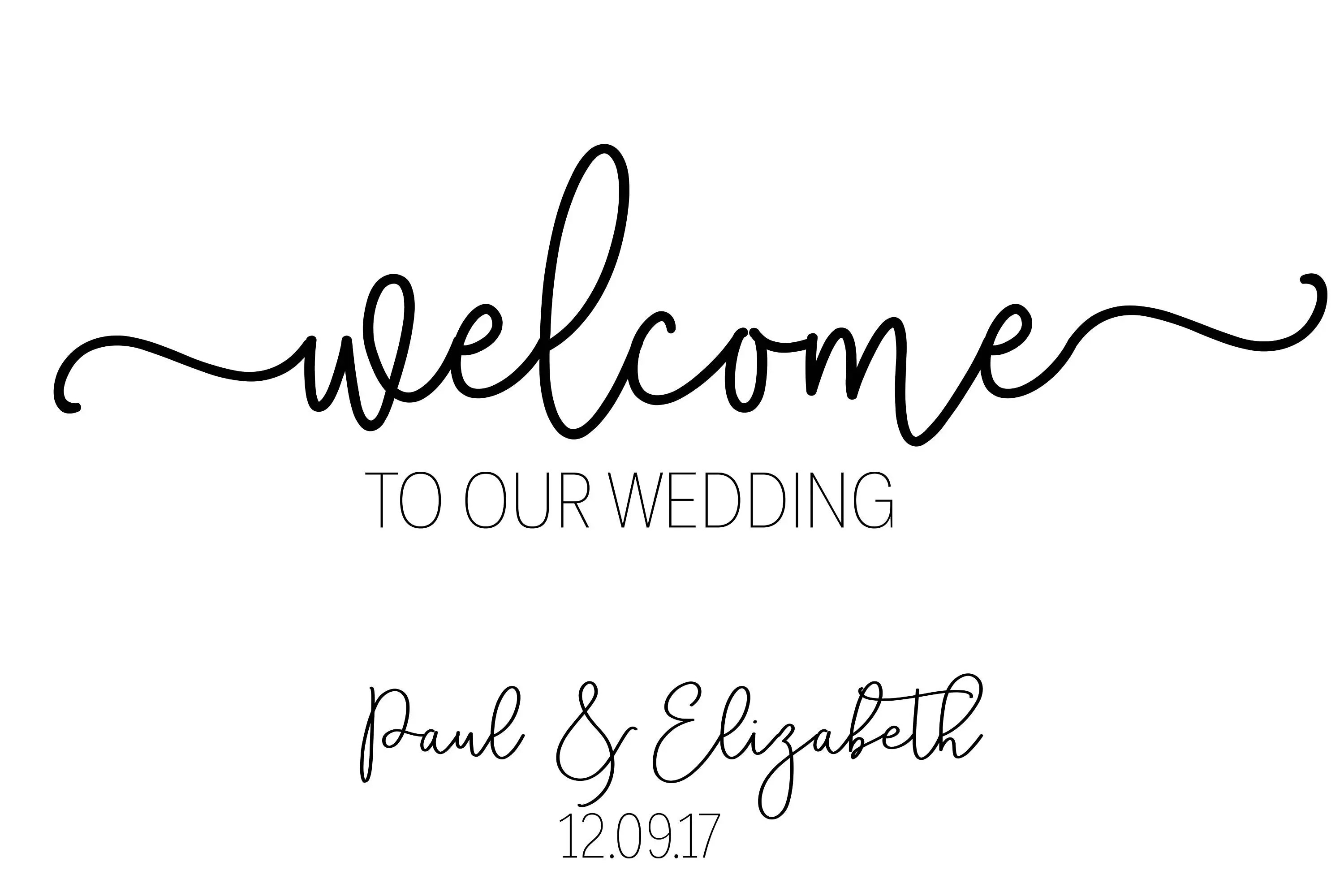 Wedding Welcome Sign Welcome Wedding Sign Modern