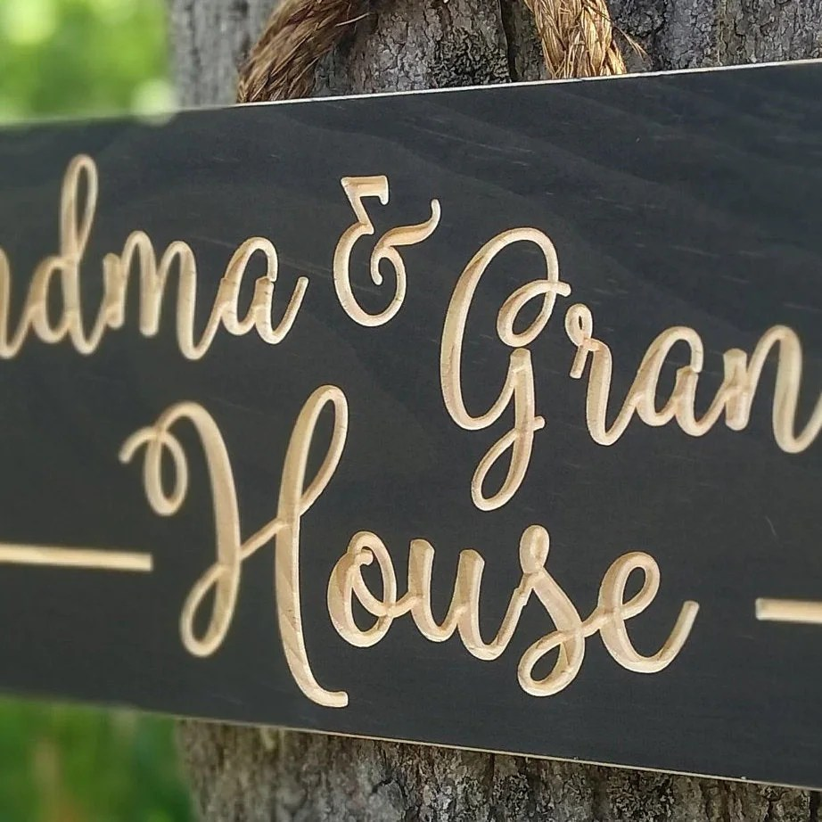 Personalized Wooden signsGrandma and Grandpa's image 2