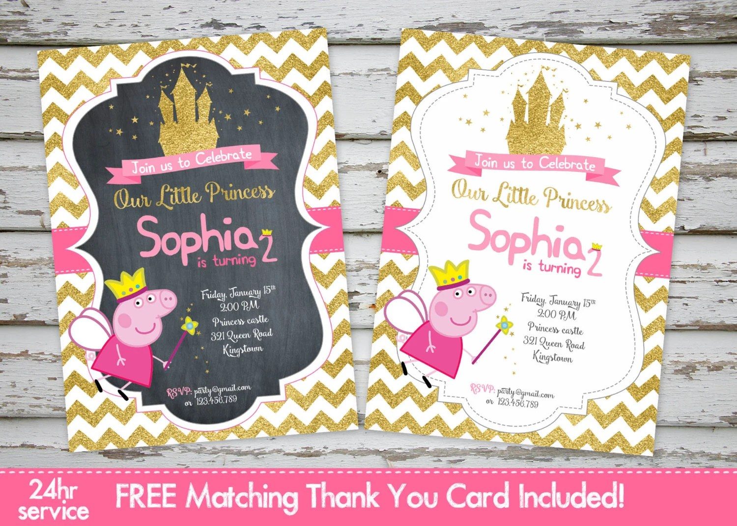 peppa pig invitations peppa pig