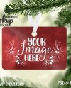 Scalloped Ceramic Christmas Ornament Mockup Template Add Your Etsy