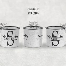 Dye Sublimation 13 Oz Ceramic Camp Mug Mockup Template Add Etsy