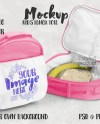 Dye Sublimation Kids Lunch Bag Mockup Add Your Own Image Etsy