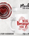 Dye Sublimation 11 Oz Love Heart Motto Mug Mockup Add Your Etsy