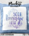 Dye Sublimation Border Pillow Mockup Template Add Your Own Etsy