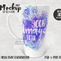 Dye Sublimation 17 Oz Latte Mug Mockup Add Your Own Image Etsy