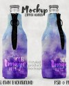 Bottle Hugger With Zipper Template Mockup Add Your Own Image Etsy