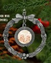 Wreath Shaped Pewter Christmas Ornament Mockup Template Add Etsy