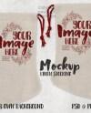 Dye Sublimation Linen Christmas Stocking Mockup Template Add Etsy