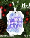 Dye Sublimation Vertical Benelux Aluminum Christmas Ornament Etsy