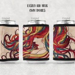 Dye Sublimation Can Wrap With Black Border Mockup Template Etsy