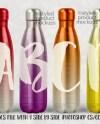 17 Oz Stainless Steel Soda Bottle Style Tapered Water Bottle Etsy
