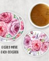 Round Acrylic Snap In Photo Insert Coaster Mockup Add Your Etsy